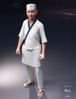 dForce Itamae Outfit for Genesis 8 Male(s)