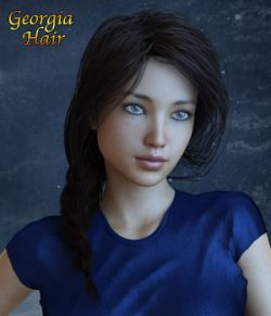 Georgia Hair For G3 G8 Daz