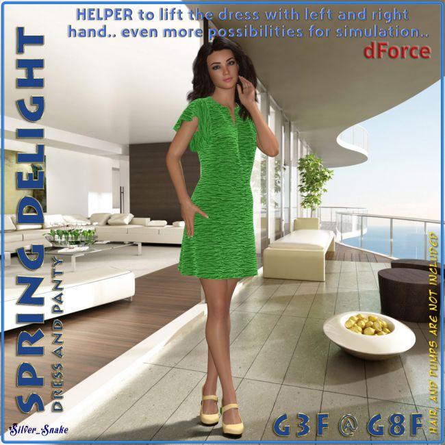 dForce Spring Delight for Genesis 8 and Genesis 3 Female