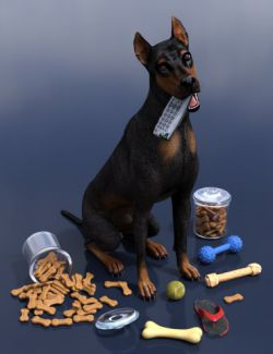 Chew Time Props for Daz Dog(s) 8