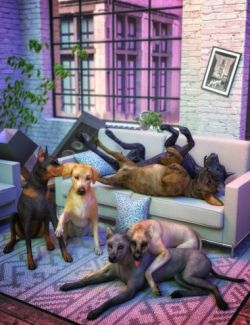 Comical Canine Poses for Daz Dog(s) 8