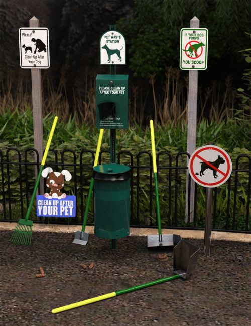 Dog Waste Station and Props