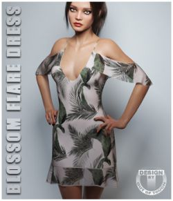 dForce Blossom Flare Dress for Genesis 8 Female