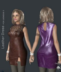 KM-Leather Dress For G3F