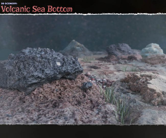 3D Scenery: Volcanic Seabottom for Poser and Daz Studio