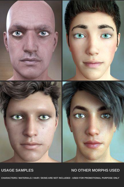 Face Morph Kit for Genesis 8 Male
