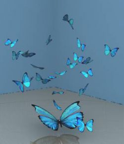 A Flutter Of Blue Butterflies For Vue