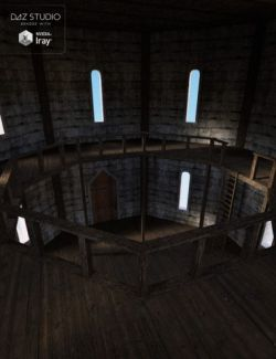 Medieval Castle Tower Interior
