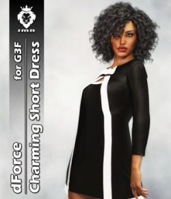 JMR dForce Charming Short Dress for G3F