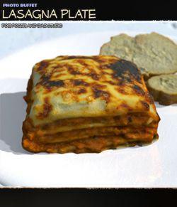 Photo Buffet: Lasagna Plate