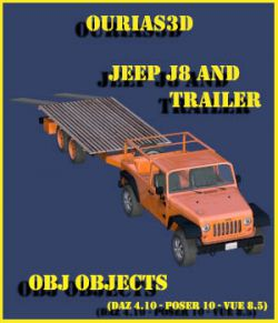 Jeep J8 and Trailer- Extended License