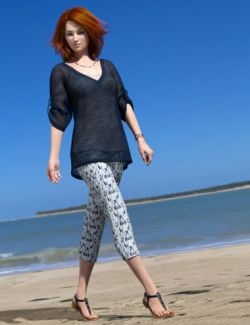 dForce Collection 01- Casual Pants & Blouse for Genesis 8 Female(s)