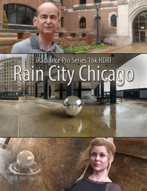 iRadiance Pro Series 16k HDRIs - Rain City Chicago