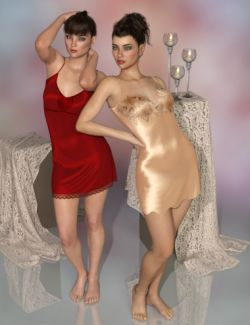 dForce Chelsea Slip Dresses for Genesis 8 Female(s)