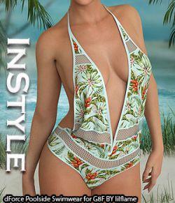InStyle- dForce Poolside Swimwear for Genesis 8 Females