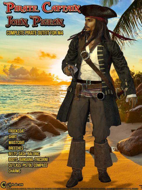 Pirate Captain John Pigeon