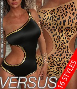 VERSUS- Off Shoulder Swimsuit for G8F