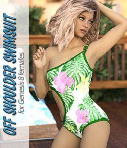Off Shoulder Swimsuit for Genesis 8 Female Daz Studio