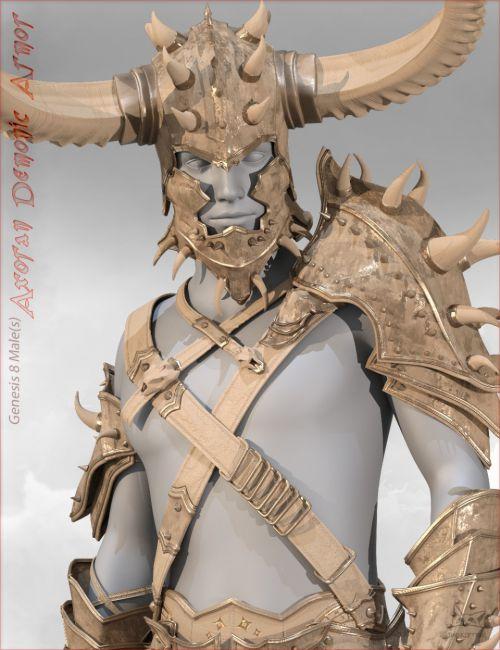 Axoran Demonic Armor Regalia for Genesis 8 Male(s)