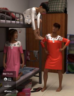 dForce Nightgown for Genesis 8 Female(s)
