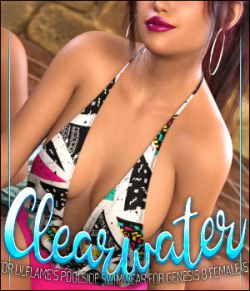 Clearwater for Poolside Swimwear for Genesis 8 Females