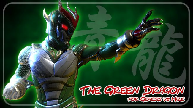 Green Dragon for Genesis 8 Male