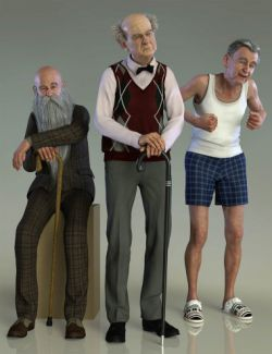 Old Man Poses and Walking Cane for Floyd 8