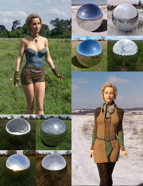 Orestes Iray HDRI Environment - Four Seasons Field