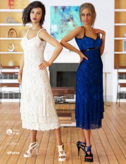 dForce 90's Girl Dress Textures