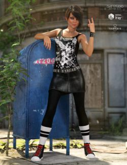 dForce Walking Dangerously Outfit for Genesis 8 Female(s)