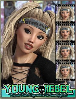 Young Rebel Mix and Match Expressions for Teen Kaylee 8 and Genesis 8 Female(s)