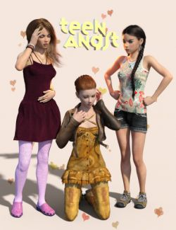 Teen Angst Poses and Expressions for Teen Kaylee 8 and Teen Josie 8