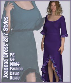 Joanna Dress and 7 Styles for PE, V4, Miki 4, Dawn, Pauline and Roxie