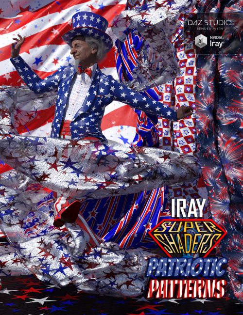 Iray Super Shaders Patriotic Patterns (Merchant Resource)