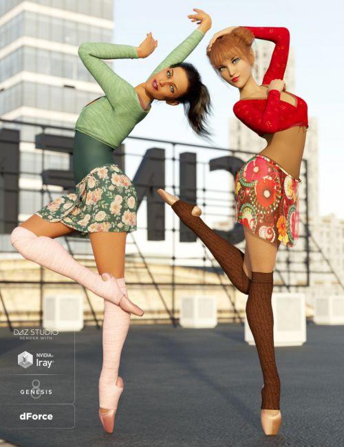 dForce Ballet Practice Outfit Textures