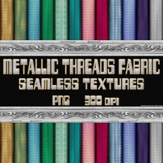 Metallic Threads Fabric Seamless Texture Pack
