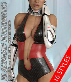 BLACKHAT:FUTURISTIC- Future Swimwear 8 for G3F and G8F