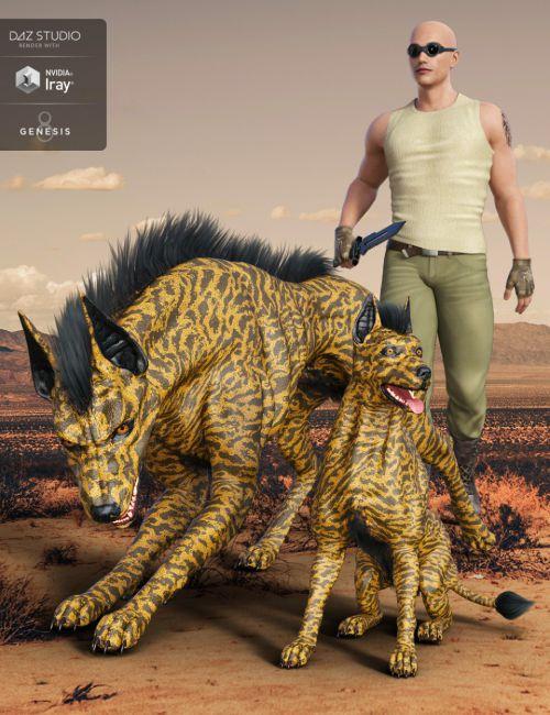 Anubis Hound for Daz Dog 8