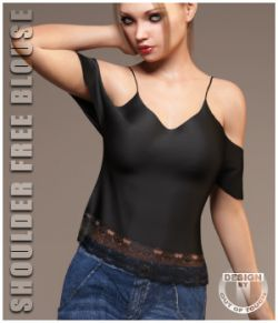 dForce Shoulder Free Blouse for Genesis 8 Female