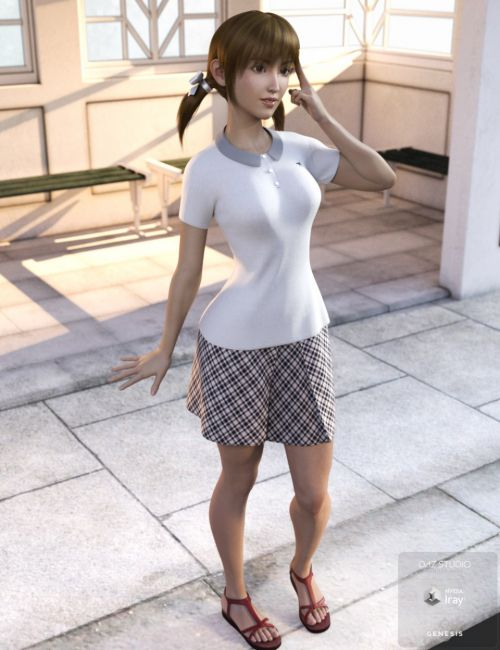 dForce Summer Polo Style Outfit for Genesis 8 Female(s)