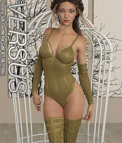 VERSUS- Ebony Silk Outfit for G8F