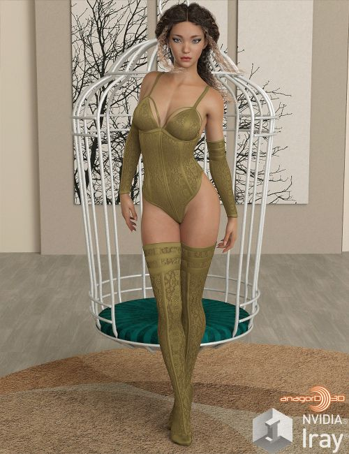 VERSUS - Ebony Silk Outfit for G8F