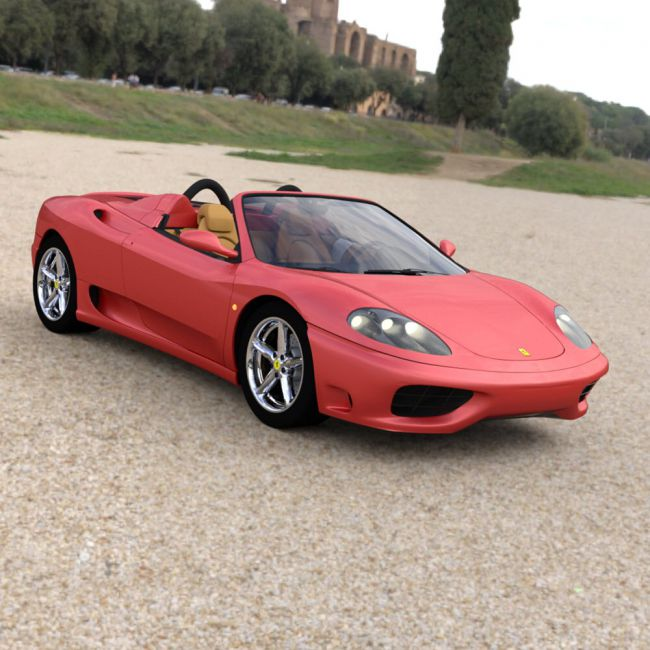 Ferrari 360 Spider 2000 for DAZ Studio