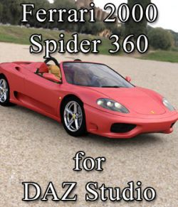 Ferrari 360 Spider 2000 for DAZ Studio