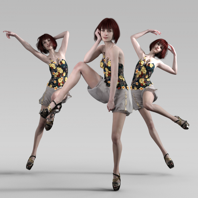High Fashion Editorial Poses for Genesis 8 Females | 3D