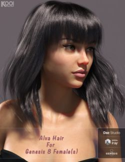 Alva Hair for Genesis 8 Female(s)