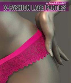 X-Fashion Lace Panties for Genesis 8 Females