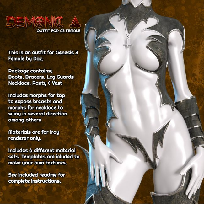 Exnem Demonic A Outfit for G3 Female