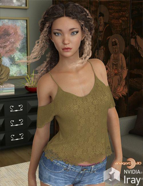 VERSUS - dForce Shoulder Free Blouse for Genesis 8 Female