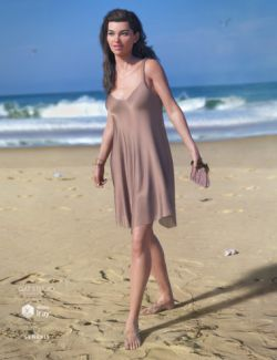 dForce Chiffon Slip Dress for Genesis 8 Female(s)